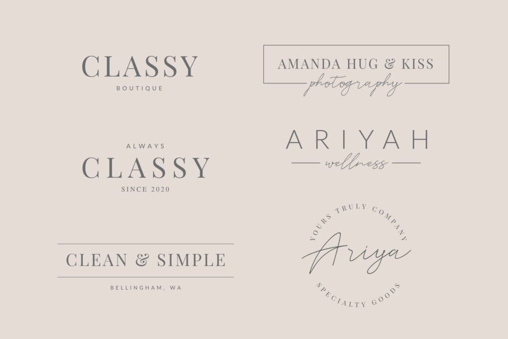 clean and classy logos