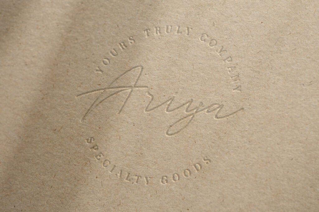 Ariyah specialty goods logo example