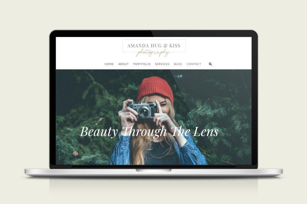 Website example with photography logo