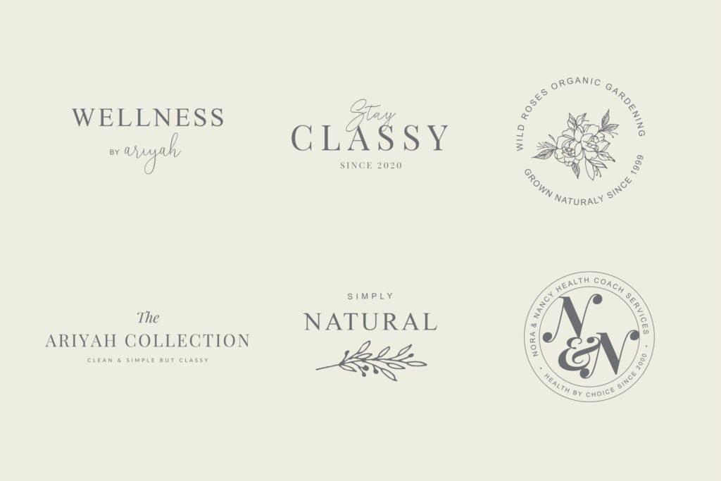 Wellness and health logos
