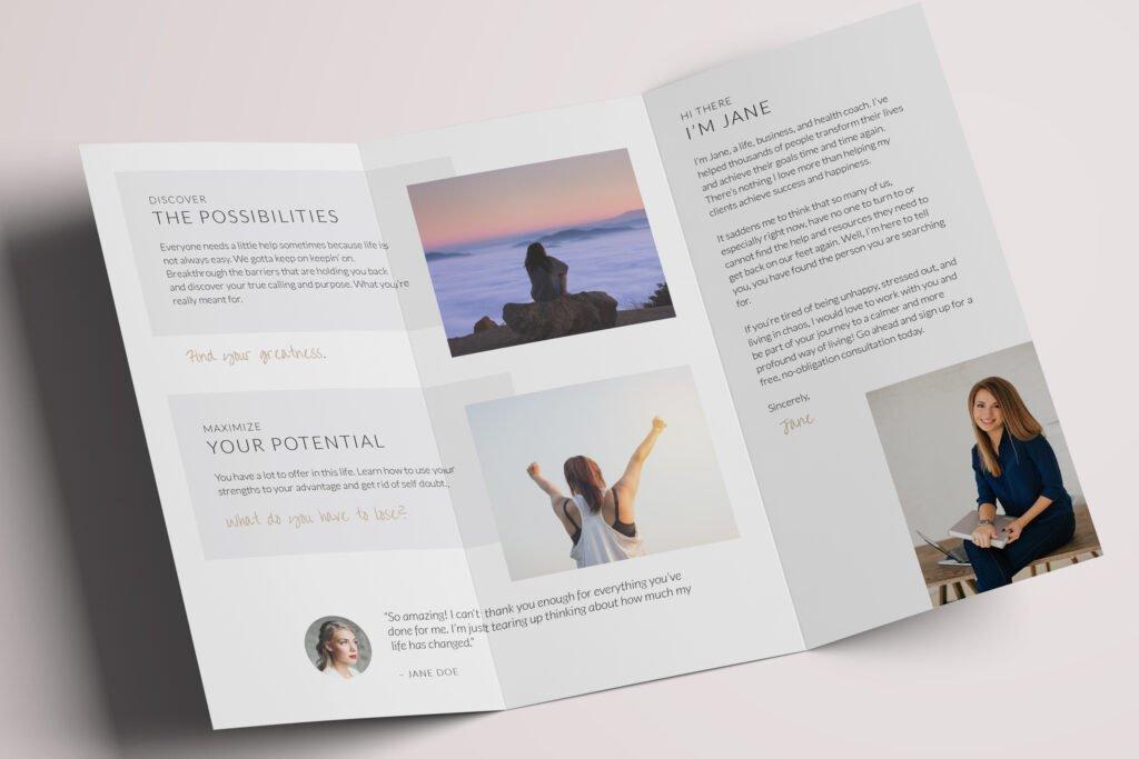 Clean & Simple brochure inside