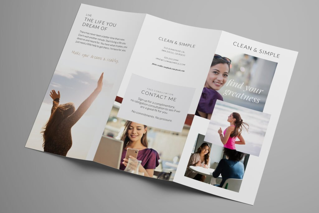 Clean & Simple brochure outsite