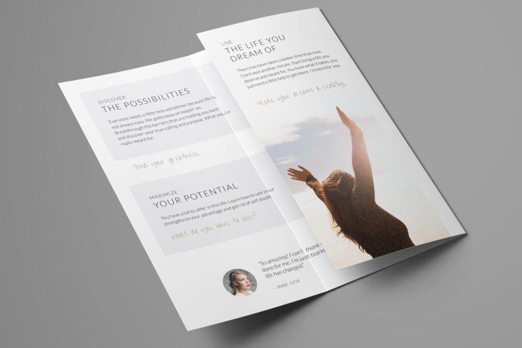 Clean & Simple brochure folded