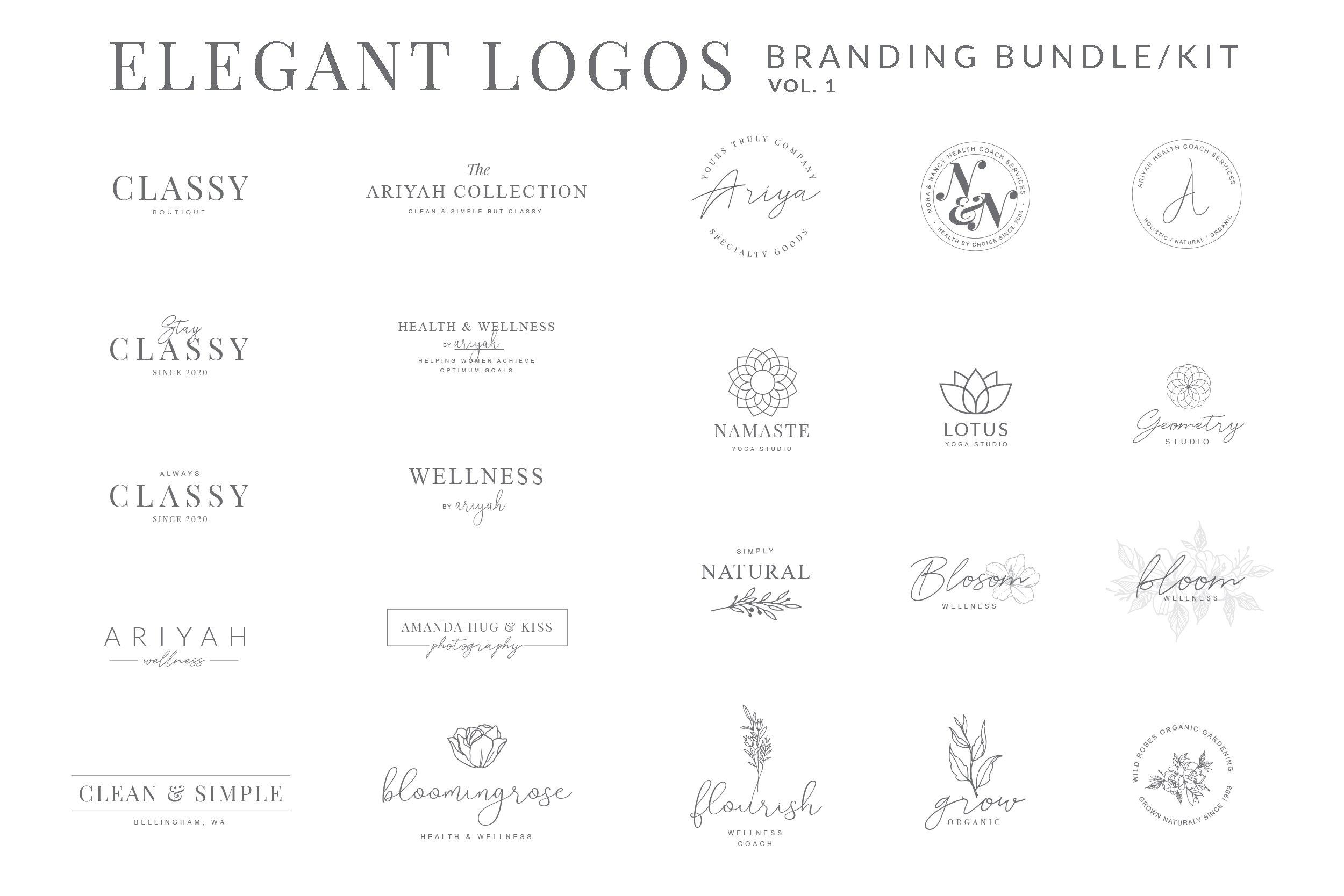Elegant Logos Branding Kit